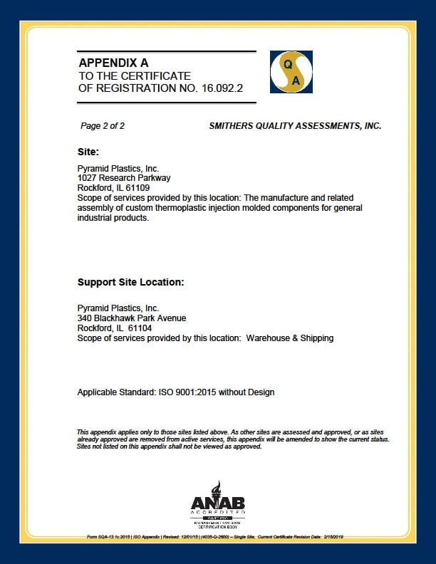 ISO 9001 : 2015 Certification - Page 2